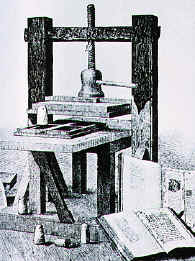 The printing press in the 14th century
