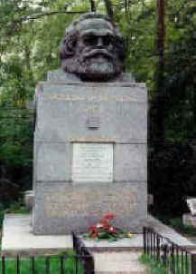 Marx's gravesite, Highgate Cemetary, London